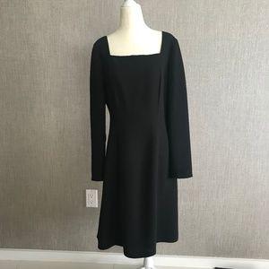 Liz Claiborne Square Neck Long Sleeved Dress
